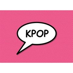 Comic Book Shout Kpop Pink Birthday Cake 3D Greeting Card (7x5)