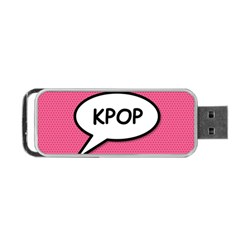 Comic Book Shout Kpop Pink Portable USB Flash (Two Sides)