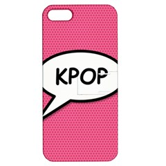 Comic Book Shout Kpop Pink Apple iPhone 5 Hardshell Case with Stand