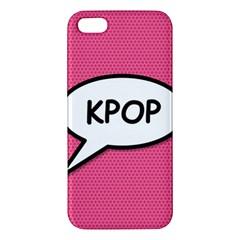 Comic Book Shout Kpop Pink Apple iPhone 5 Premium Hardshell Case