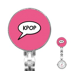 Comic Book Shout Kpop Pink Stainless Steel Nurses Watch
