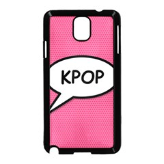 Comic Book Shout Kpop Pink Samsung Galaxy Note 3 Neo Hardshell Case (Black)