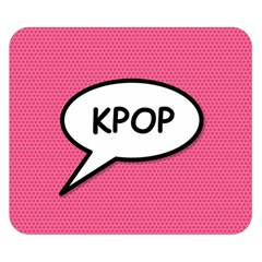 Comic Book Shout Kpop Pink Double Sided Flano Blanket (Small)