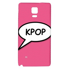 Comic Book Shout Kpop Pink Galaxy Note 4 Back Case