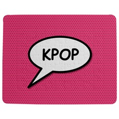Comic Book Shout Kpop Pink Jigsaw Puzzle Photo Stand (Rectangular)