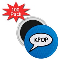 Comic Book Shout Kpop (Blue) 1.75  Magnets (100 pack)