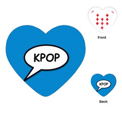 Comic Book Shout Kpop (Blue) Playing Cards (Heart)