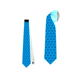Comic Book Shout Kpop (Blue) Neckties (One Side)