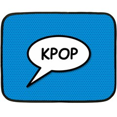 Comic Book Shout Kpop (Blue) Double Sided Fleece Blanket (Mini)