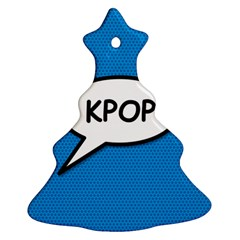 Comic Book Shout Kpop (Blue) Christmas Tree Ornament (2 Sides)