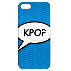 Comic Book Shout Kpop (Blue) Apple iPhone 5 Hardshell Case with Stand