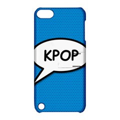 Comic Book Shout Kpop (Blue) Apple iPod Touch 5 Hardshell Case with Stand