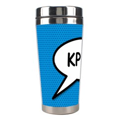 Comic Book Shout Kpop (Blue) Stainless Steel Travel Tumblers