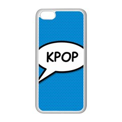 Comic Book Shout Kpop (Blue) Apple iPhone 5C Seamless Case (White)