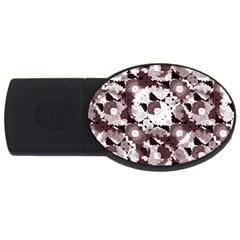 Ornate Modern Floral USB Flash Drive Oval (2 GB)