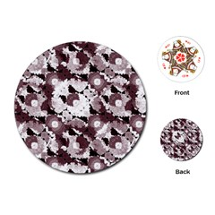 Ornate Modern Floral Playing Cards (round)