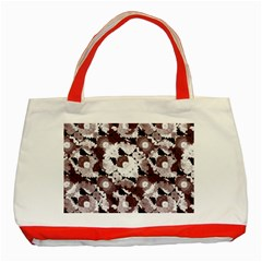 Ornate Modern Floral Classic Tote Bag (Red)
