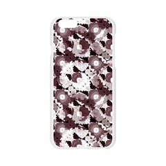 Ornate Modern Floral Apple Seamless iPhone 6/6S Case (Transparent)