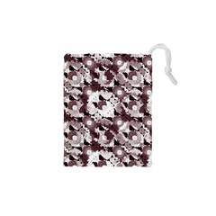 Ornate Modern Floral Drawstring Pouches (xs)