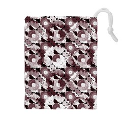 Ornate Modern Floral Drawstring Pouches (Extra Large)