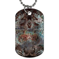 Metallic Copper Patina Urban Grunge Texture Dog Tag (Two Sides)
