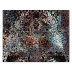 Metallic Copper Patina Urban Grunge Texture Jigsaw Puzzle (Rectangular)