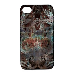 Metallic Copper Patina Urban Grunge Texture Apple iPhone 4/4S Hardshell Case with Stand