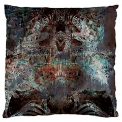 Metallic Copper Patina Urban Grunge Texture Large Flano Cushion Case (Two Sides)