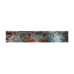 Metallic Copper Patina Urban Grunge Texture Flano Scarf (Mini)
