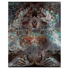 Metallic Copper Urban Grunge Patina Texture Drawstring Bag (Small)