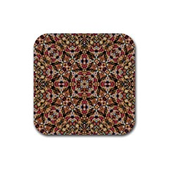 Boho Chic Rubber Square Coaster (4 pack)