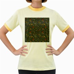 Abstract Reg Women s Fitted Ringer T Shirts