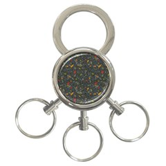 Abstract Reg 3 Ring Key Chains