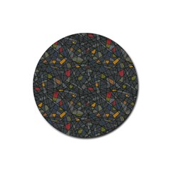 Abstract Reg Rubber Coaster (Round)