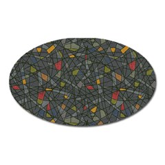 Abstract Reg Oval Magnet