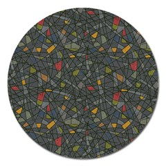 Abstract Reg Magnet 5  (round)
