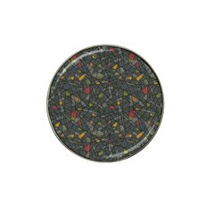 Abstract Reg Hat Clip Ball Marker (4 pack)