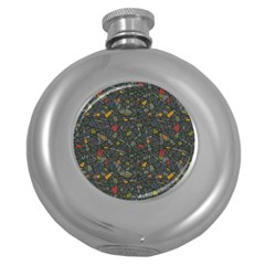 Abstract Reg Round Hip Flask (5 oz)
