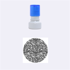 Abstract Reg Rubber Round Stamps (Small)