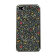 Abstract Reg Apple iPhone 4 Case (Clear)