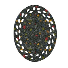 Abstract Reg Oval Filigree Ornament (2-Side)