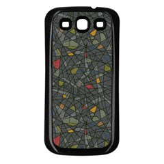 Abstract Reg Samsung Galaxy S3 Back Case (Black)