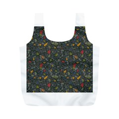 Abstract Reg Full Print Recycle Bags (m)