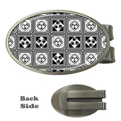 Black And White Money Clips (Oval)