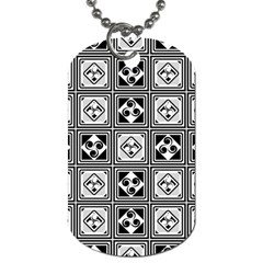 Black And White Dog Tag (One Side)