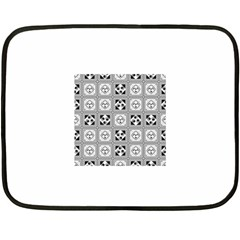 Black And White Double Sided Fleece Blanket (Mini)
