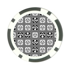 Black And White Poker Chip Card Guards (10 pack)