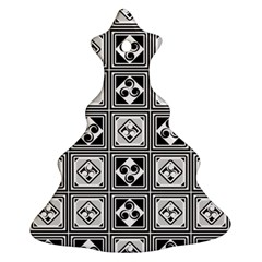 Black And White Christmas Tree Ornament (2 Sides)