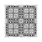 Black And White Acrylic Tangram Puzzle (6  x 6 ) Front