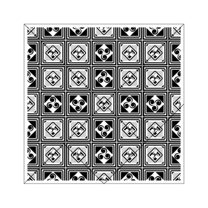 Black And White Acrylic Tangram Puzzle (6  x 6 )